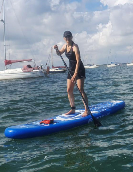Saltwater paddle boarding instructor